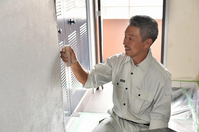 左官工事風景 中西工業 熊本県 伝統工法